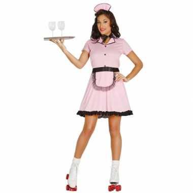 Amerikaanse serveerster carnavalskledingje dames goedkoop