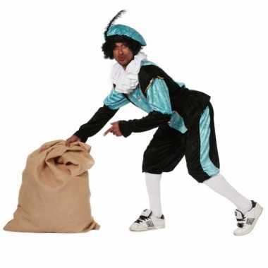 Blauw zwarte pieten carnavalskleding budget dames goedkoop