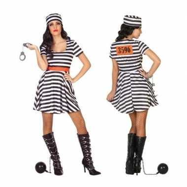 Carnaval/feest boeven/gevangenen bonnie verkleedcarnavalskleding jur