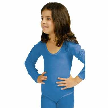 Carnavalskleding  Bodystocking blauw kinderen dames goedkoop