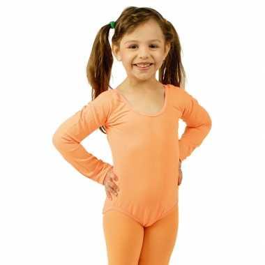 Carnavalskleding  Bodystocking oranje kinderen dames goedkoop