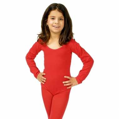 Carnavalskleding  Bodystocking rood kinderen dames goedkoop