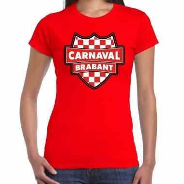 Carnavalskleding carnaval verkleed t shirt brabant rood voor dames go