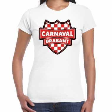 Carnavalskleding carnaval verkleed t shirt brabant wit voor dames goe