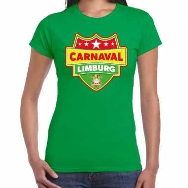 Carnavalskleding carnaval verkleed t shirt limburg groen dames goedko