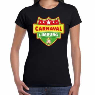 Carnavalskleding carnaval verkleed t shirt limburg zwart dames goedko