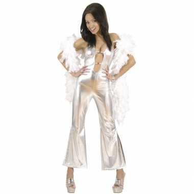 Carnavalskleding catsuit dames zilver