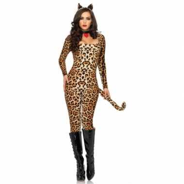 Carnavalskleding catsuit me luipaardprint dames