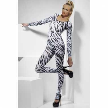 Carnavalskleding  Catsuit zebra print dames goedkoop