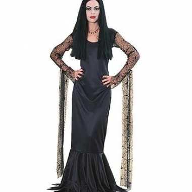 Carnavalskleding dames morticia jurk goedkoop