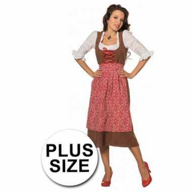 Carnavalskleding  Dames Tiroler jurken grote maten goedkoop