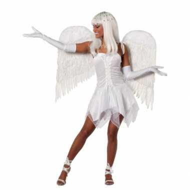 Carnavalskleding fee jurkje wit dames goedkoop