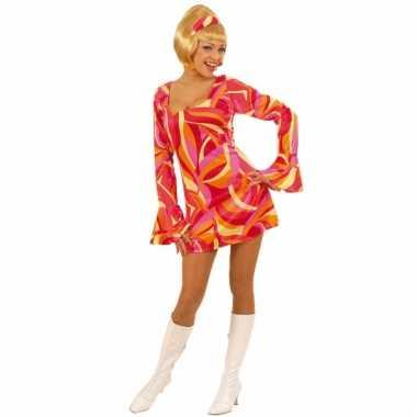 Carnavalskleding  Flower power jurkje dames goedkoop