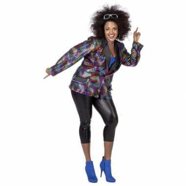 Carnavalskleding  Grote maat disco blazer dames goedkoop