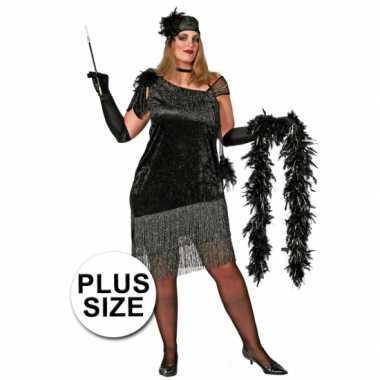 Carnavalskleding  Grote maten jaren jurk dames goedkoop
