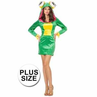 Carnavalskleding grote maten sexy kikker damesjurk goedkoop