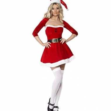 Carnavalskleding kerst jurk bolero dames goedkoop