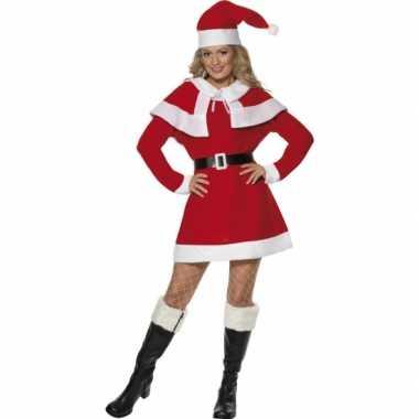 Carnavalskleding  Kerstjurkje cape dames goedkoop