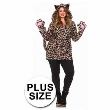 Carnavalskleding  Luipaard jurk luipaardprint grote maten dames goedk