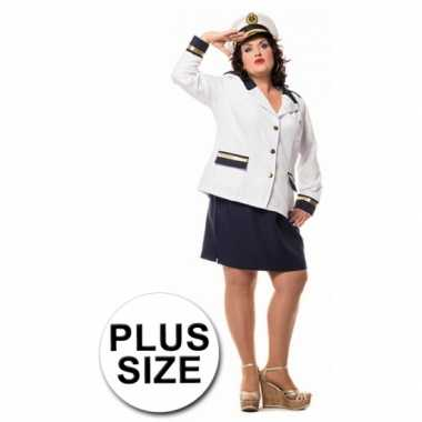 Carnavalskleding  Marine dames colbert rok grote maat goedkoop