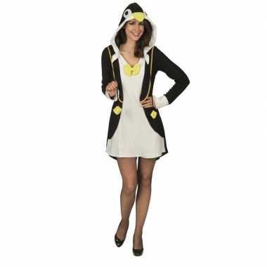 Carnavalskleding pinguin verkleedjurk dames goedkoop