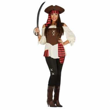 Carnavalskleding  Piraten broek shirt dames goedkoop