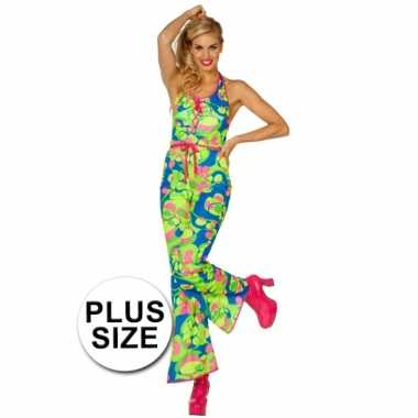 Carnavalskleding  Plus size sixties/seventies catsuit dames goedkoop