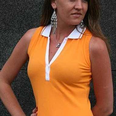 Carnavalskleding  Polo shirt dames zonder mouwen goedkoop