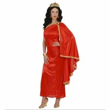 Carnavalskleding romeinse dames jurk rood