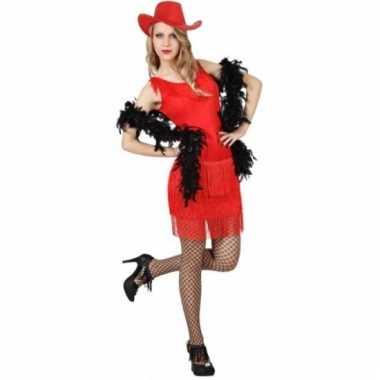 Carnavalskleding rood wilde westen jurkje dames goedkoop