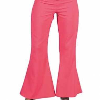 Carnavalskleding  Roze hippie carnavals dames broeken goedkoop