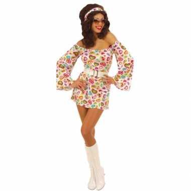 Carnavalskleding  Sixties jurk vrouwen dames goedkoop
