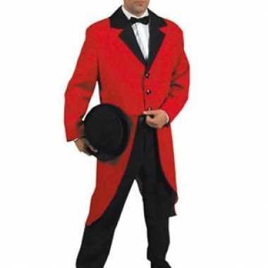 Carnavalskleding  Slipjas rood dames heren goedkoop