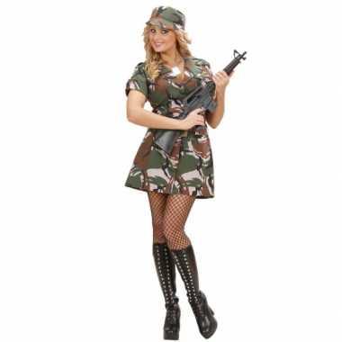 Carnavalskleding soldaat jurkje dames goedkoop