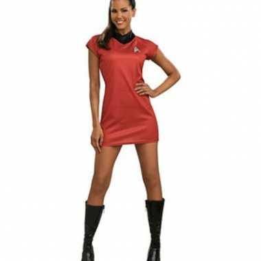 Rood Jurkje Goedkoop.Carnavalskleding Star Trek Film Jurkje Uhura Rood Dames Goedkoop