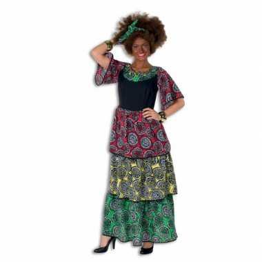 Carnavalskleding  Surinaamse jurk grote maat dames goedkoop