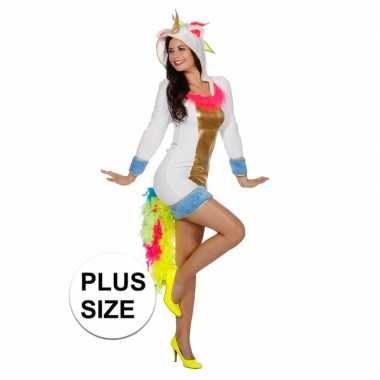 Carnavalskleding unicorn verkleedjurk dames plus size