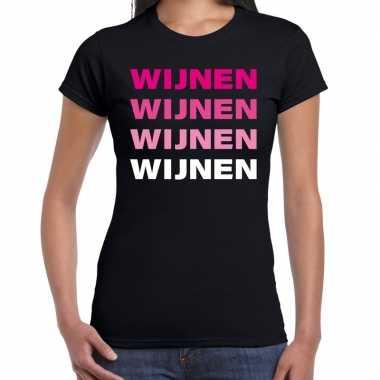 Carnavalskleding wijnen wijnen wijnen wijnen t shirt zwart dames goed
