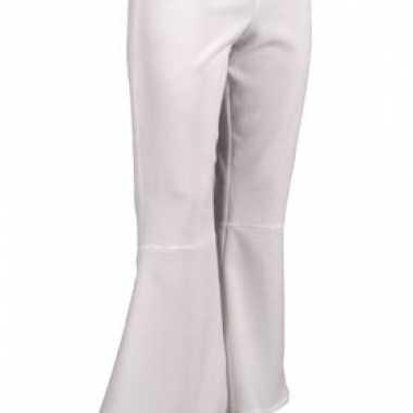 Carnavalskleding  Witte hippie dames broeken goedkoop