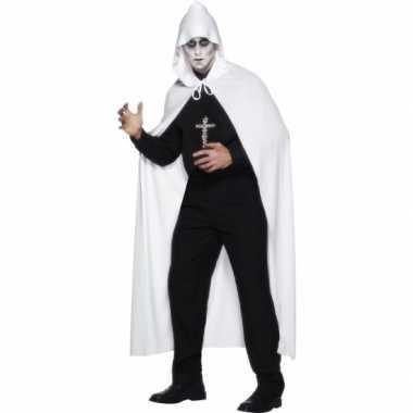 Carnavalskleding  Witte omslag cape dames goedkoop