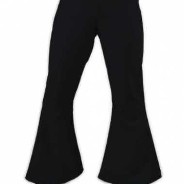 Carnavalskleding  Zwarte dames hippie broeken goedkoop