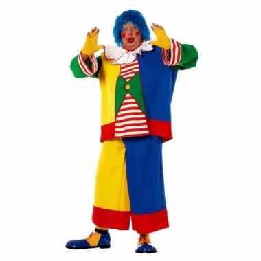Clowns carnavalskleding heren een grote maat dames goedkoop