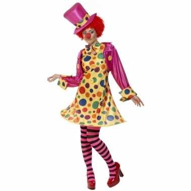Dames clowns carnavalskleding goedkoop
