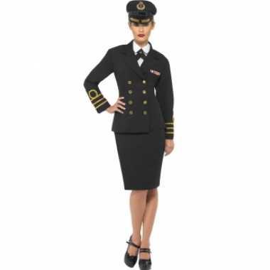 Dames kapitein carnavalskleding
