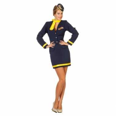 Dames Stewardess carnavalskleding goedkoop