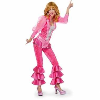 Disco carnavalskleding dames roze goedkoop