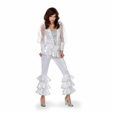 Disco carnavalskleding dames wit goedkoop