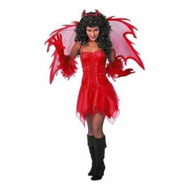 Duivel carnavalskleding jurkje volw dames goedkoop