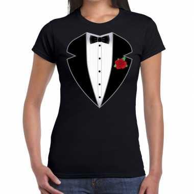 Gangster / maffia carnavalskleding carnavalskleding t shirt zwart da
