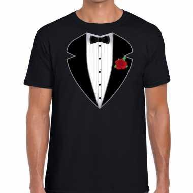 Gangster maffia carnavalskleding carnavalskleding t-shirt zwart heren dames